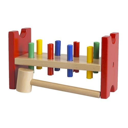 Planche à clous et marteau, multicolore MULA